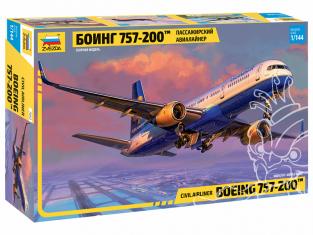 Zvezda maquette avion 7032 Avion de ligne Boeing 757-200 ™ 1/144