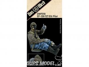 "DAS WERK maquette avion DWF010 Figurines Pilote pour Ju EF-126 ""Elli"" / EF-127 ""Walli"" 1/32"