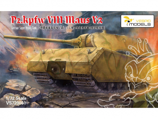 Vespid Models maquette militaire VS720001 Panzerkampfwagen VIII Maus V2 1/72