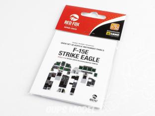 Red Fox Studio Tableaux de bord 3D avion RFQS-32032 F-15E Strike Eagle Tamiya 1/32