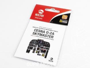 Red Fox Studio Tableaux de bord 3D avion RFQS-32042 Cesna O-2A Skymaster Roden 1/32