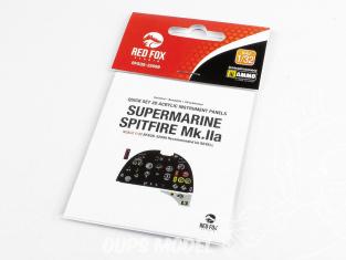Red Fox Studio Tableaux de bord 3D avion RFQS-32099 Supermarine Spitfire Mk.IIa Revell 1/32
