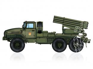 "Hobby Boss maquette militaire 82931 Lance-roquettes multiple russe BM-21 ""Hail"" 122mm 1/72"