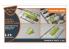 """Clear Prop kit d'amelioration avion CPA72037 Masque de peinture F-89 D/J kit Revell en """"papier kabuki jaune"""" 1/72"""