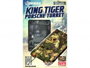 U-Star maquette militaire 60012 King Tiger tourelle Porsche 1/144