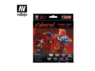 Vallejo Set Cyberpunk 72307 Combat Zone 8x 17ml Inclus miniature