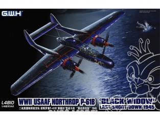 Great Wal Hobby maquette avion L4810 NORTHROP P-61B BLACK WIDOW Last Shotdown 1945 1/48