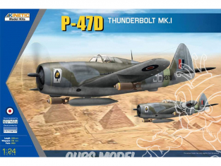 Kinetic model kits maquette avion K3212 P-47D Republic Thunderbolt Mk.I 1/24