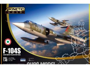 Kinetic maquette avion K48093 F-104G/S ASA/M Starfighter Italian Air Force Kinetic Gold 1/48