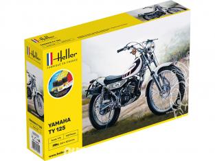 Heller maquette moto 56902 STARTER KIT Yamaha TY 125 Inclus peintures principale colle et pinceau 1/8
