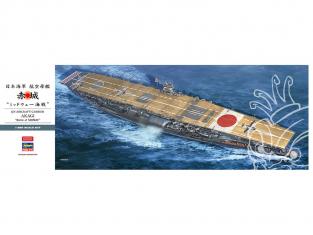 Hasegawa maquette bateau 40103 Porte-avions de la marine impériale japonaise Akagi Bataille de Midway 1/350
