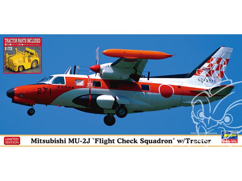 Hasegawa maquette avion 02370 Mitsubishi MU-2 avec tracteur 1/72