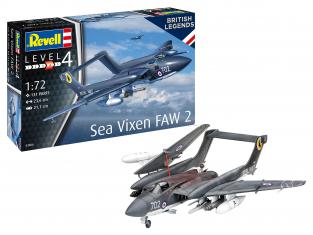 Revell maquette avion 63866 model set Sea Vixen FAW 2 70e anniversaire peintures principale colle et pinceau 1/72