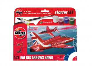 Airfix maquette avion A55002 Petit kit de démarrage NOUVEAU Red Arrows Hawk 1/72