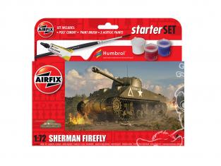 Airfix maquette militaire A55003 Petit kit de démarrage NOUVEAU Sherman Firefly 1/72