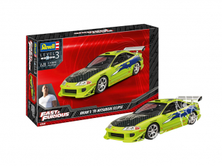 Revell maquette voiture 67691 model set Fast And Furious Brian's 1995 Mitsubishi Eclipse 1/25