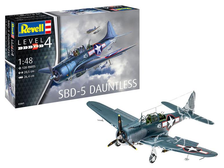 Revell maquette avion 03869 SBD-5 Dauntless Navyfighter 1/48