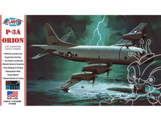 Atlantis maquette avion H163 Bombardier de patrouille anti-sous-marin Lockheed P-3A Orion US Navy 1/115
