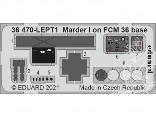 Eduard photodecoupe militaire 36470 Amélioration Marder I sur base FCM 36 Icm 1/35