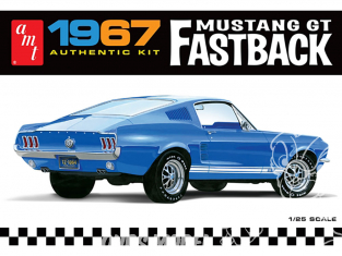 AMT maquette voiture 1241 1967 FORD MUSTANG GT FASTBACK 1/25