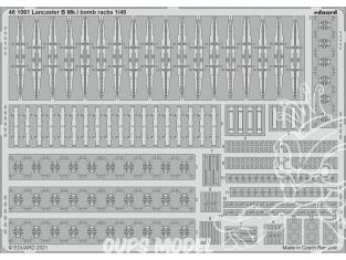 EDUARD photodecoupe avion 481061 Bomb racks Lancaster B Mk.I Hk Models 1/48