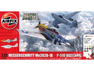 Airfix maquette avion A50183 Messerschmitt Me262 et P-51D Mustang Dogfight Double 1/72