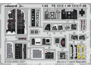 EDUARD photodecoupe avion 491212 Amélioration F-4B Phantom Tamiya 1/48