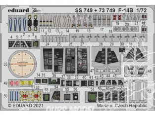 Eduard photodecoupe avion SS749 Zoom amélioration F-14B Great Wall Hobby 1/72