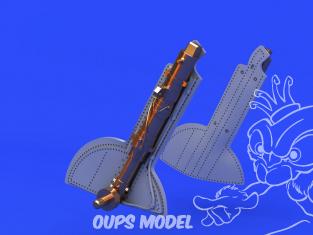Eduard kit d'amelioration avion brassin 648671 Jambes bronze train d'atterrissage Spitfire Mk.Vc Eduard 1/48