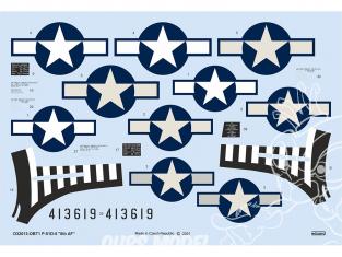 Eduard Decalques avion D32013 P-51D-5 8th AF Tamiya / Revell 1/32