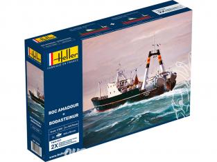 Heller maquette bateau 85608 ROC AMADOUR + BODASTEINUR Twinset 1/200