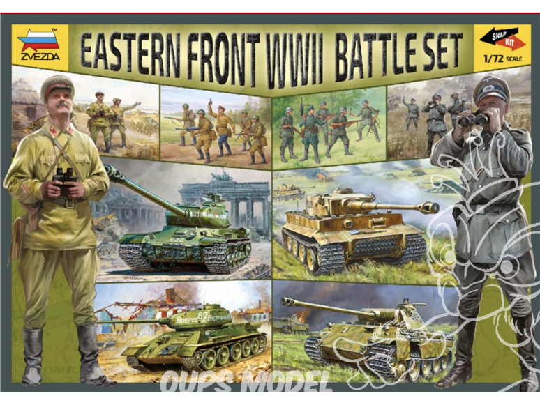 ZVEZDA set 5203 Set de Combat Front Est 1/72