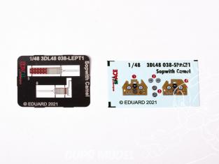 Eduard Space décalques 3D 3DL48038 Sopwith Camel Eduard 1/48