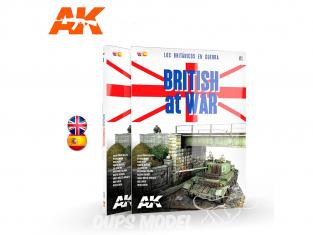 Ak Interactive livre AK130001 LES BRITANNIQUES EN GUERRE en Anglais et Espagnol