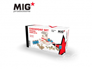 MIG Productions by AK MP35-104 CHECKPOINT SET CONFLITS MODERNES 1/35 1/35