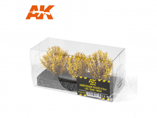 AK interactive Diorama series ak8218 Arbustes buissons JAUNE CLAIR 4-5CM 1:35 / 75MM / 90MM