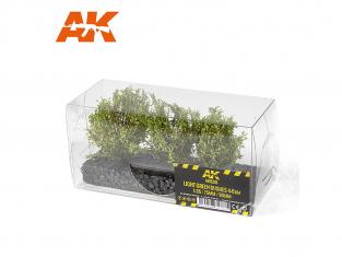 AK interactive Diorama series ak8216 Arbustes buissons VERT CLAIR 4-5CM 1:35 / 75MM / 90MM