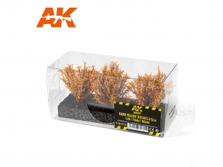 AK interactive Diorama series ak8217 Arbustes buissons JAUNE FONCÉ 4-5CM 1:35 / 75MM / 90MM