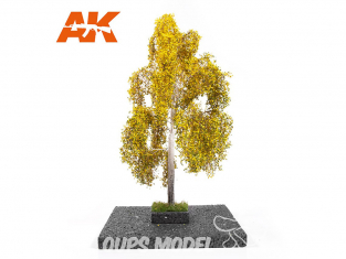 AK interactive Diorama series ak8191 Arbre BOULEAU en AUTOMNE 1:35 / 1:32 / 54mm