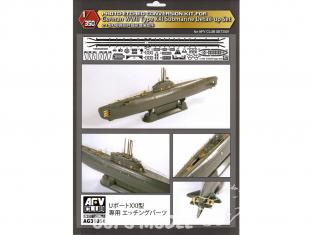 Afv Club maquette sous marin AG35054 Ensemble de mise à niveau de feuilles de détail photogravées U-BOAT type XXI 1/350