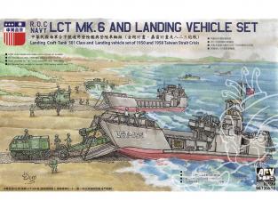 AFV maquette bateau SE735S02 Navire de débarquement LCT MK.6 avec ensemble de véhicules 1/350
