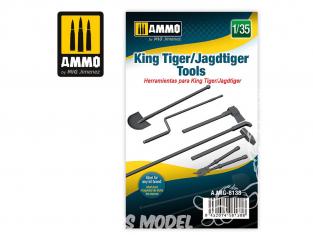 Ammo Mig accessoire 8138 Outils King Tiger / Jagdtiger 1/35