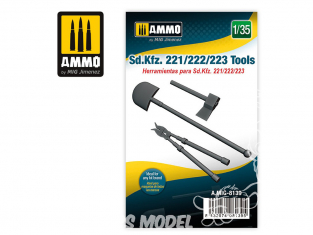 Ammo Mig accessoire 8139 Outils Sd.Kfz. 221/222/223 1/35