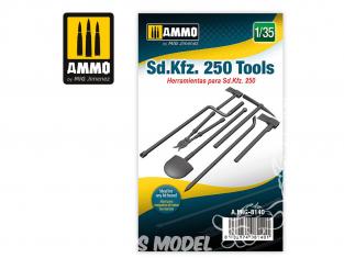 Ammo Mig accessoire 8140 Outils Sd.Kfz. 250 1/35