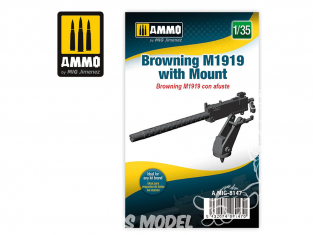 Ammo Mig accessoire 8147 Mitrailleuse Browning M1919 avec support 1/35
