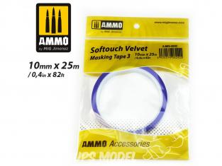 Mig accessoires 8242 Ruban de masquage Softouch velvet Tape 3 - 10mm x 25m Bande cache velours