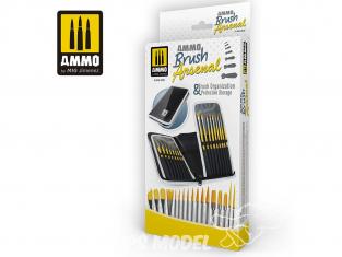 Mig pinceau 8580 Brush Arsenal Set de pinceaux avec pochette