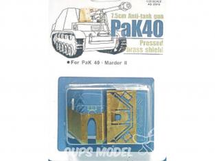 AFV Club chenille AG35012 Kit photodecoupe bouclier de canon PAK40 Marder II (kit de mise à niveau) 1/35