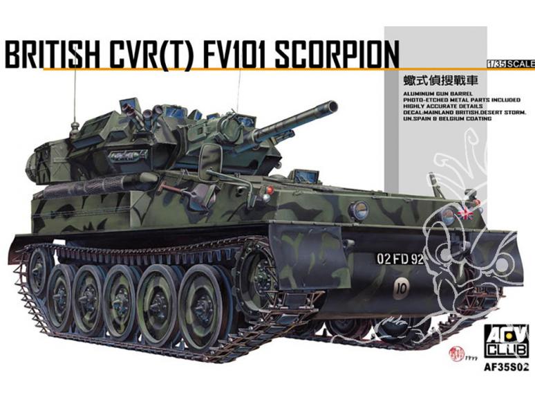 Afv Club maquette militaire 35S02 Véhicule de reconnaissance britannique CVR(T) FV101 Scorpion 1/35