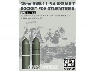 Afv Club maquette militaire AF35139 obus de mortier 38cm pour Sturmtiger 1/35
